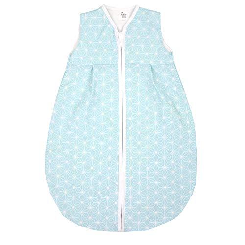 TupTam Baby Sommer Schlafsack Ärmellos Unwattiert, Farbe: Rosette Mint, Größe: 80-86