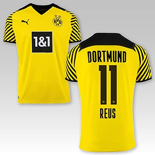 TSH7NDF Dortmund Kinder Trikot Marco Reus # 11 2021/22, Größe:152, Spielername:11 Reus