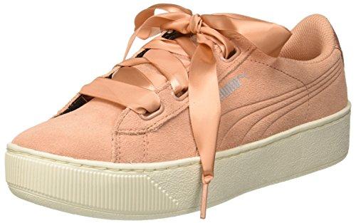 PUMA Damen Vikky Platform Ribbon S Sneaker, Pink (Dusty Coral-Dusty Coral), 38.5 EU