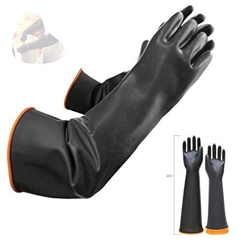 Latex Chemical Handschuhe Resistant Gummi PPE Industrial Safety Work Schutzhandschuhe Lange Handschuhe, 22