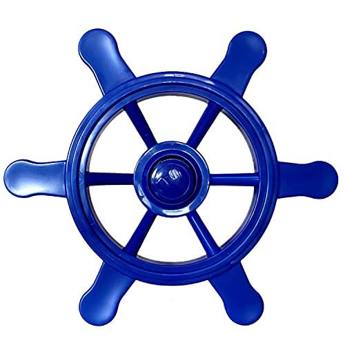 Loggyland Piraten-Lenkrad für Spielturm Kletterturm Spielhaus Spielschiff auf dem Spielplatz im Garten für Kinder (blau)