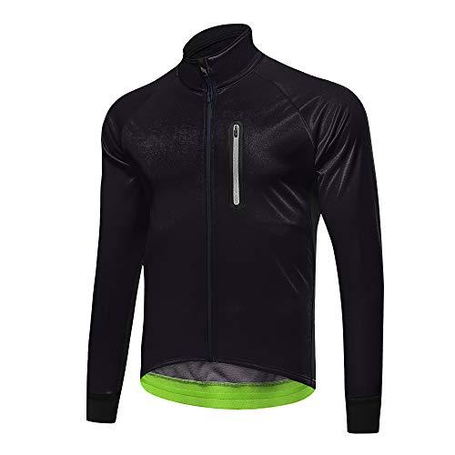 d.Stil Herren Multifunktionell Fahrrad Jacke Wasserdicht Winddicht Radjacke Reflektierend für Radsport Lauf Outdoor Sport (schwarz, 2XL)