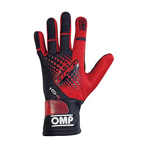Omp OMPKK02744E060L Ks-4 Handschuhe My2018 Rot/Schwarz Sz L