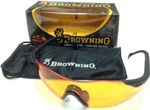 Browning Schießbrille, Claybuster, Orange Schutzblende, schwarz, One Size