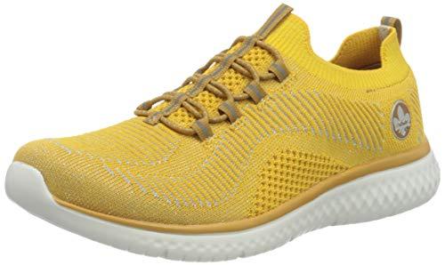 Rieker Damen N9474 Sneaker, gelb-Silber 68, 38 EU
