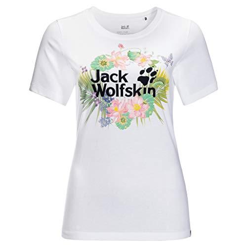 Jack Wolfskin Paradise Logo T-Shirt White Rush L
