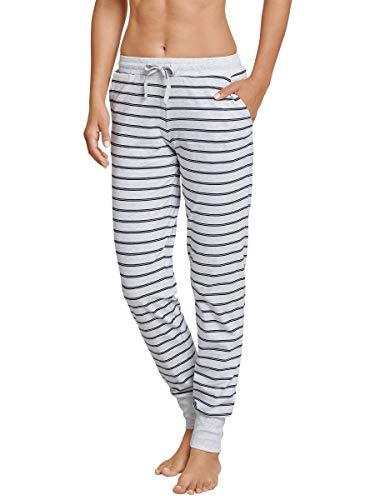 Schiesser Damen Mix & Relax Jerseyhose Lang Bas De Pyjama, Grau (Grau-Mel. 202), D38