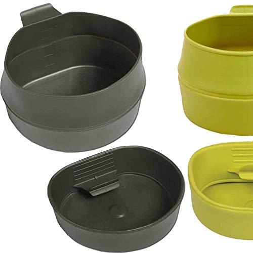 Faltbecher Fold-A-Cup 200 oder 600 ml von WILDO Falttasse Tasse Campingtasse Campingbecher faltbar Oliv-grün 200 ml