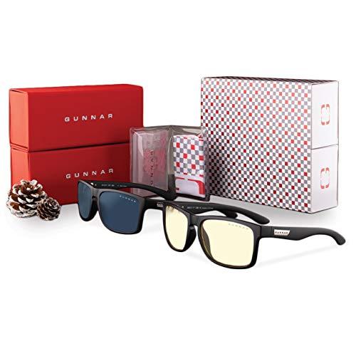 GUNNAR Optiks Intercept Computer-Brillen, Holiday Bundle - Amber Glas / Sonnenbrille, schwarz
