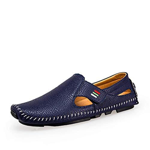 Zhang Herren Comfort Schuhe Aus Mikrofaser Frühjahr/Sommer-Sandelholz-Walking-Schuhe Casual/Outdoor-Blau/Weiß/Schwarz /,Blau,40