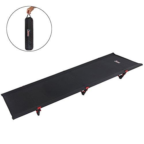 ALPIDEX Ultraleichtes Feldbett Campingbett belastbar bis 120 kg, lediglich 1.800 g inkl. Packsack, Bodenfreiheit 16 cm, minimales Packmaß