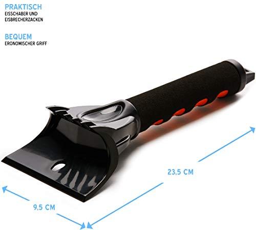 Lyvanas Eiskratzer Auto - VERGLEICHSSIEGER 2020 (Note 1,1)* - langlebiger und Stabiler Profi Eisschaber mit verbessertem Konzept - handlicher Scheibenkratzer in Premium Qualität (Schwarz)