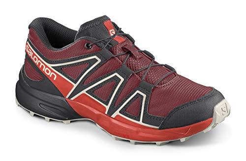 Salomon Kinder Speedcross, Schuhe für Trail Running und Outdoor-Aktivitäten ,Rot (Red Dahlia/Cherry Tomato/Vanilla Ice),36 EU