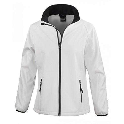 Result Core Damen Softshell-Jacke, bedruckbar (XL) (Weiß/Schwarz)
