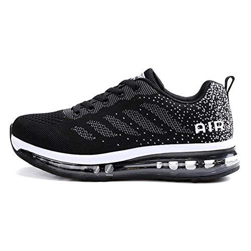 Axcone Damen Herren Sneaker Laufschuhe Air Sportschuhe Kletterschuhe Turnschuhe Running Fitness Sneaker Outdoors Straßenlaufschuhe Sports 833 BK 42EU