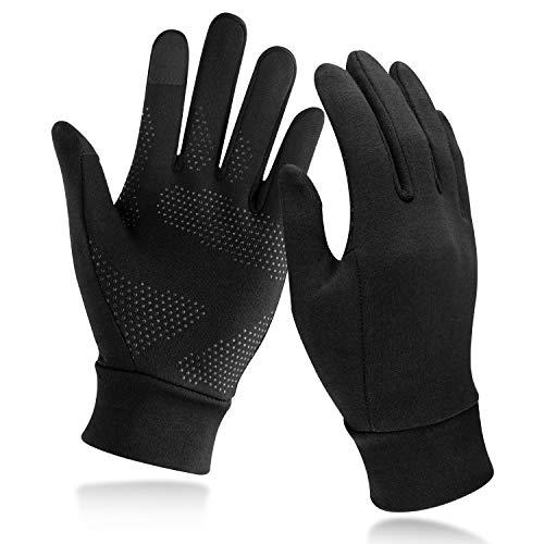 Unigear Touchscreen Handschuhe, Unisex Sporthandschuhe Handschuhfutter Outdoor Laufhandschuhe Warme Winddichte Winterhandschuhe Anti-Rutsch Full Finger für Laufen, Fahren, Radfahren, Wandern (M)