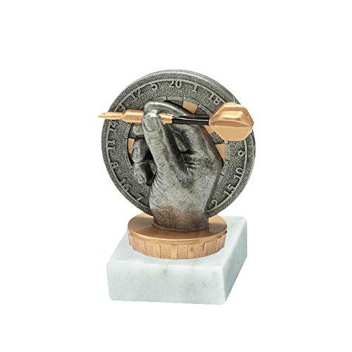 RaRu Dart-Pokal mit Wunschgravur und Resin-Klebefigur