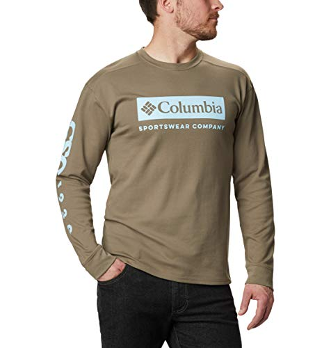 Columbia Lodge Herren-Trikot, langärmelig, Herren, Lodge Jersey Long Sleeve, Steingrün CSC Urban, Large
