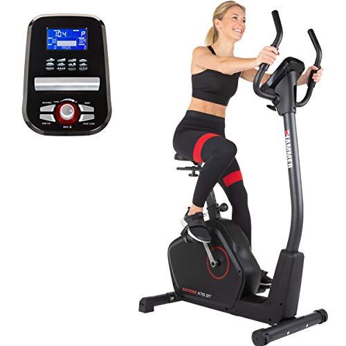 HAMMER Ergometer Cardio XT6 BT, leises Fitnessfahrrad mit tiefem Einstieg und Comfort-Sattel, 13 kg Schwungmassensystem, Bluetooth & App-Steuerung, 130 kg Benutzergewicht, 93 x 51 x 150 cm