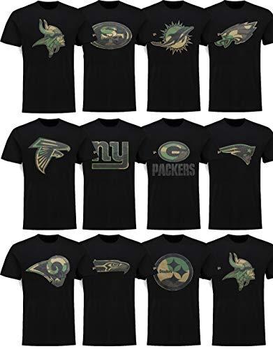 New Era Green Bay Packers T-Shirt - Camo Logo Tee - Black - 4XL