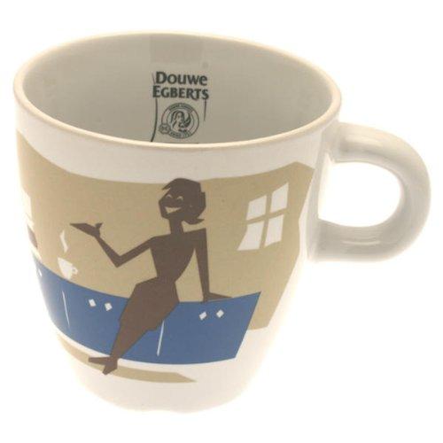 Douwe Egberts Design Tasse Kaffee Becher Kaffeetasse Blau Porzellan 250 ml