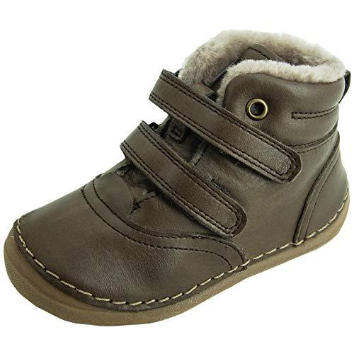 Froddo Kinder Stiefel G2110078 Winter Klettstiefel Echtleder mit Schafswolle Braun (Dark Brown) 1760546031
