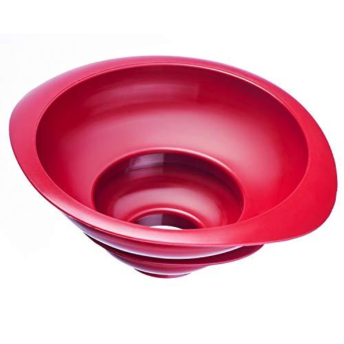 Westmark 2 Einmach-/Marmeladen-Trichter, Trichter-Set, Einfüllstutzen-Durchmesser: 4,2/7,5 cm, Kunststoff, Rot, 11552270