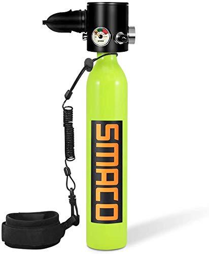 SMACO S300Pro Scuba Tank Mini Scuba Gear Tragbare Tauchausrüstung Aufblasbarer Tauchzylinder 8-12 Minuten Unterwasser für Notfall Backup 2021 Upgrade