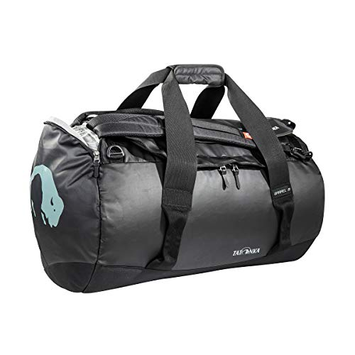 Tatonka Barrel M Reisetasche - 65 Liter - wasserfeste Tasche aus LKW-Plane mit Rucksackfunktion und großer Reißverschluss-Öffnung - Rucksacktasche - unisex - schwarz