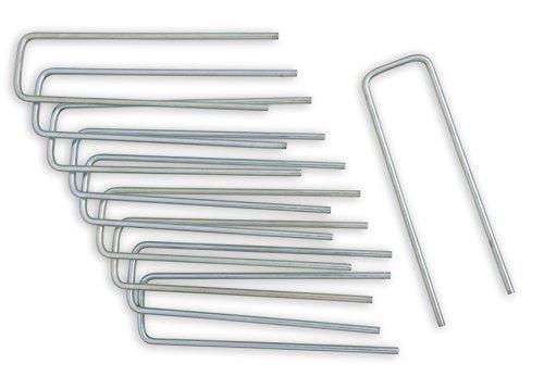 Windhager Metall-Heringe Erdanker Bodenanker Befestigungsanker Befestigungshering, verzinkt, 4 x 14cm x Ø 4mm, 10 Stück, 0629
