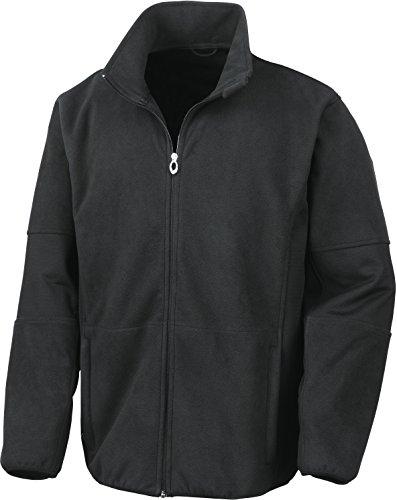Result Herren R131M Osaka Softshell-Jacke mit gekämmtem Flor, Schwarz, L