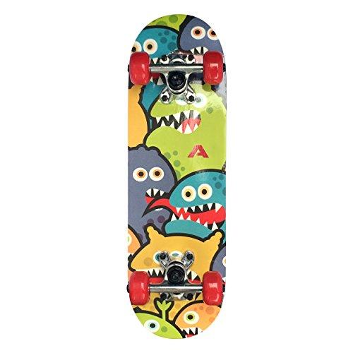 Apollo Kinder Skateboard, kleines Komplett Board mit ABEC 3 Kugellagern und Aluminium Achsen - Holzboard - Coole Designs für Kinder und Jugendliche - Cruiser Boards für Mädchen und Jungen…