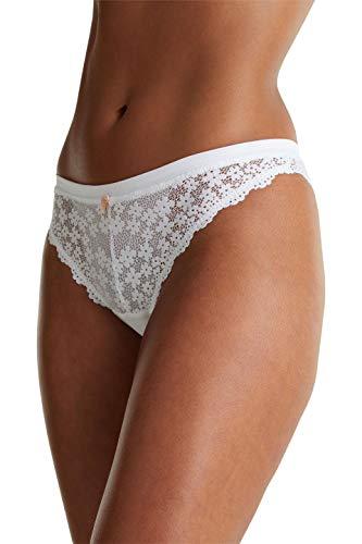 ESPRIT Bodywear Damen DACKOTA Brazilian Hipster Brief, 100/WHITE, 40