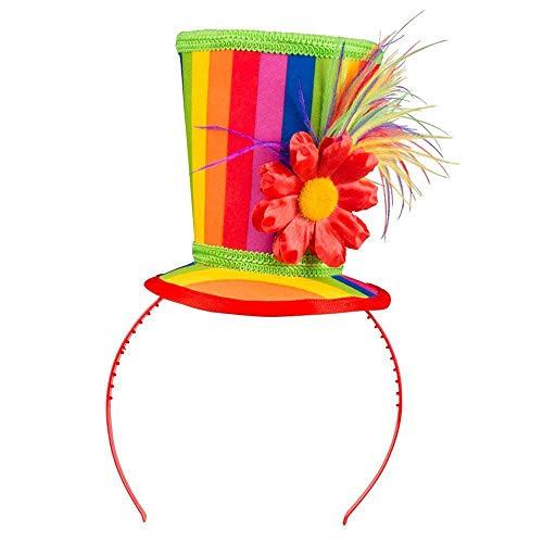 Boland 55510 - Haarreif Blossom, Tiara, Unisex, farbige Streifen, Blüte, Blume, Clown, Kostüm, Karneval, Mottoparty