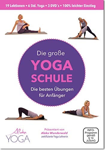 Die Große Yoga Schule DVD - die besten Übungen für Anfänger 3 DVDs   Yoga dvd für Anfänger   Mehr Entspannung, Beweglichkeit und Wohlbefinden.