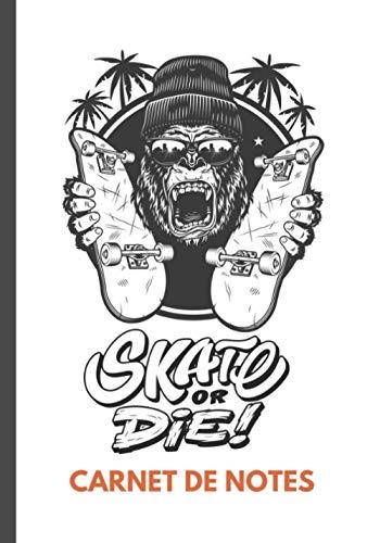 Carnet de notes skateboard: idée cadeau pour fan de skateboard 100 pages lignées fond photo skateboard