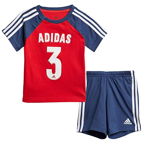 adidas Kinder Kinder Anzug I Sport Sum Anzug, Vivred/Tecind/White, 104, FM6398