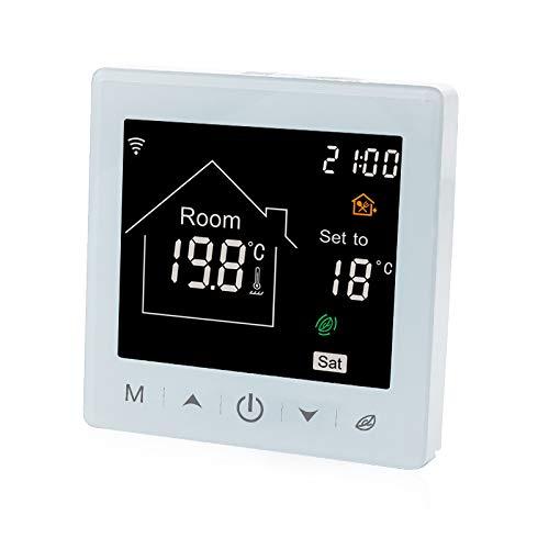 Beok Smart WIFI-Heizthermostat für die Fußbodenheizung mit wöchentlich programmierbarer Funktion 3A LCD-Touchscreen-Thermostat