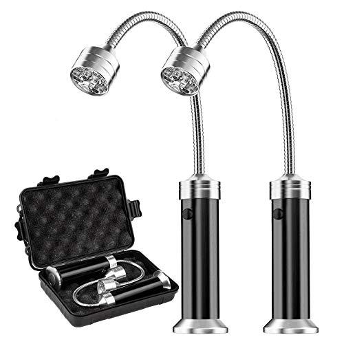 MojiDecor Grill Licht, Magnetische Grilllampe BBQ Licht Set Outdoor Grill Lichter BBQ Zubehör, Batteriebetrieben, 360 Grad Drehwinkel (2 Pack, Schwarz)