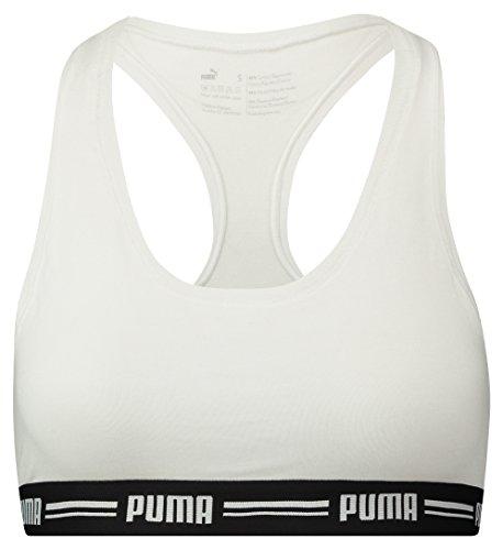 PUMA Damen Iconic Racer Back Bra 1P Unterwäsche, White, XL