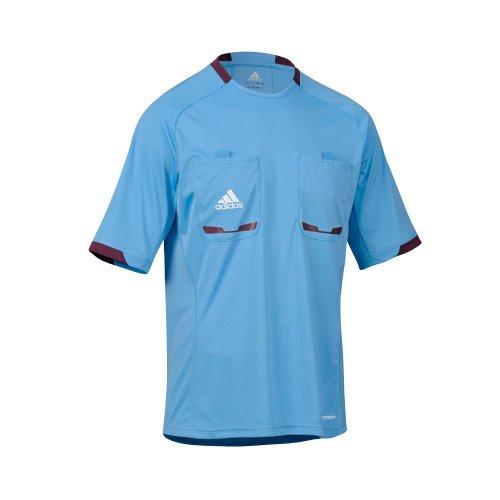 adidas Herren kurzärmliges Schiedsrichter Trikot Referee 12, Columbia Blue/Purple Beauty F10, XL, X19638