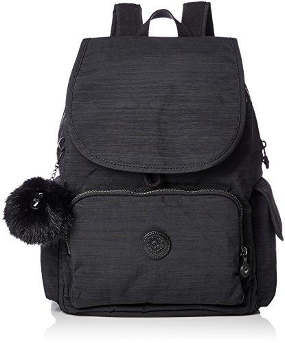 Kipling City Pack, Damen Rucksack, Schwarz (True Dazz Black), 15x24x45 cm (W x H x L)