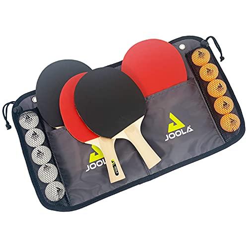 JOOLA Tischtennis-Set Family , 4 Tischtennisschläger + 10 Tischtennisbälle + Tasche