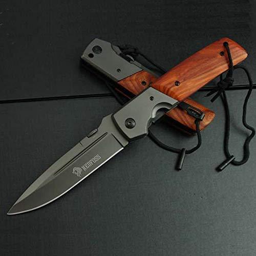 NedFoss Knife Außen Klappmesser DA52, Outdoor Klappmesser Survival Messer Einhandmesser, Scharfes Edelstahl Klinge Überlebensmesser, Gut Einhandmesser Gürtelmesser Campingmesser (DA52)