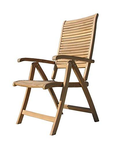 GRASEKAMP Qualität seit 1972 Teak Sessel verstellbar Gartenstühle Klappstuhl Teak Holz Gartenmöbel