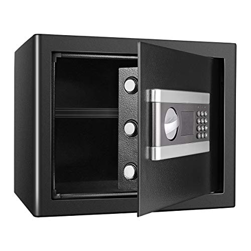 Tresor Safe mit Schlüssel Feuerfest Wasserdicht Elektronischer Tresor Safe Möbeltresor, 28L Wertschutzschrank In-Wall Klein Tresor für Bargeld Geld Schmuck, Dokumentieren (1.0CUB)
