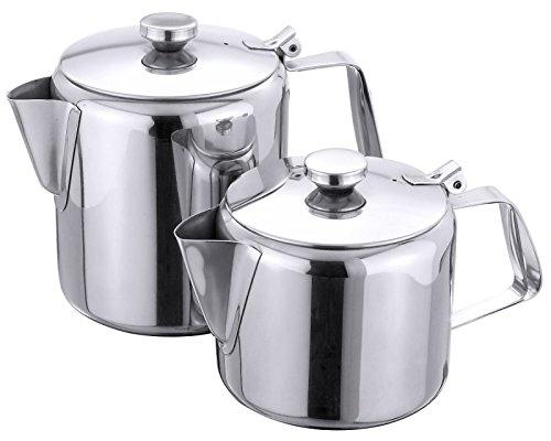 Teekanne aus Edelstahl 18/10, mit Ausgusssieb und Scharnierdeckel/Inhalt: 0,8 oder 2,8 Liter | ERK (A2 - Inhalt: 2,8 Liter)
