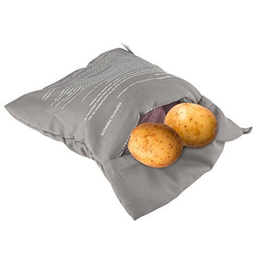 ele ELEOPTION Kartoffel Kochtasche Upgrade Mikrowellenherd Kartoffel Kochbeutel Mikrowelle Beutel Kochtasche für Kartoffel Tortillas Maiskolben Express Backen Werkzeug (Grau)