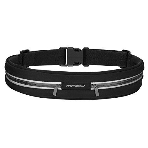 MoKo Sport Jogging Gürtel Hüfttasche Laufgürtel Taille Tasche Running Belt Kompatibel mit MP3 Player, iPhone 6s, Galaxy S10/S10 Plus/S10e/S7 Edge, Huawei P8 Lite/P9, Handy bis zu 7