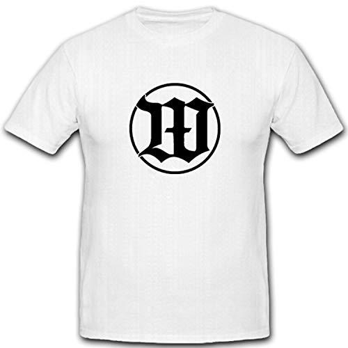 Wachbataillon Bundeswehr BW WachBtl Wache Wappen Abzeichen Emblem - T Shirt #5166, Größe:XL, Farbe:Weiß